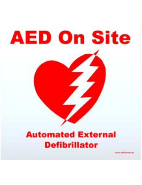 AED Window Cling